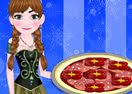 Anna Cooking Mufalletta Pizza