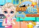 Baby Elsa Sushi Cooking