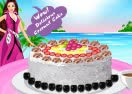 Barbie Coconut Cake Decor