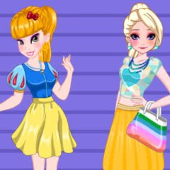 Blonde Princesses Fancy Fashion