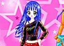 Blue Hair Star Dress Up