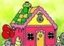 Colorir a Casa de Doce de João e Maria