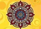 Colorir a Mandala Indiana