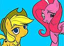Colorir AppleJack e Pinkie Pie
