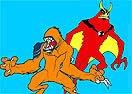Colorir Besta e Arraia a Jato