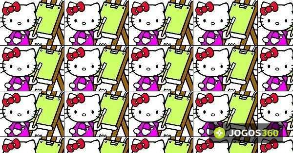 Jogo Colorir Com Hello Kitty No Jogos 360