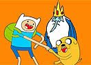 Colorir Finn e Jake Aprontando