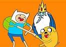 Colorir Finn e Jake Aprontando