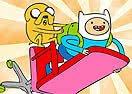 Colorir Finn e Jake Voando
