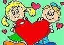 Colorir Garotos Com Coração
