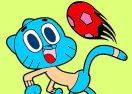 Colorir Gumball Jogando Futebol