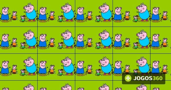 Jogo Colorir Peppa Pig Nas Pocas De Lama No Jogos 360