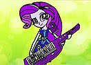 Colorir Rarity Guitarrista
