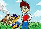Colorir Ryder e Chase de Patrulha Canina