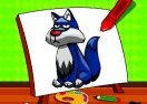 Easy Kids Coloring Wolfs