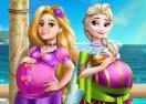 Elsa and Rapunzel: Pregnant BFFs