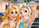 Elsa and Rapunzel Selfie Time