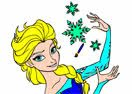 Elsa Frozen Fever Coloring