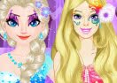 Elsa vs Barbie: Make Up Contest