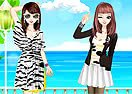 Faddish Twin Sisters Dress Up