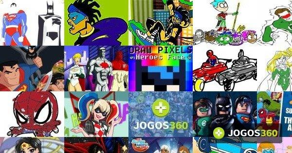 Jogos De Pintar Super Herois No Jogos 360