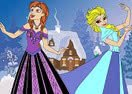 Elsa and Anna Coloring