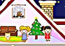 Winter Dollhouse Decoration