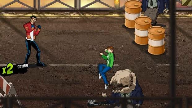 Jogo Heróis Unidos Mutante Rex e Ben 10