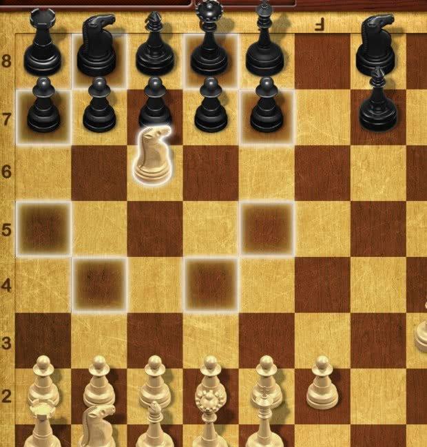 Movimento do Cavalo no Xadrez