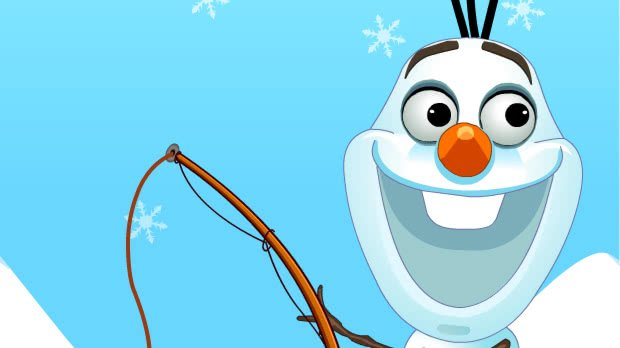 Jogo Frozn Olaf Fishing Time