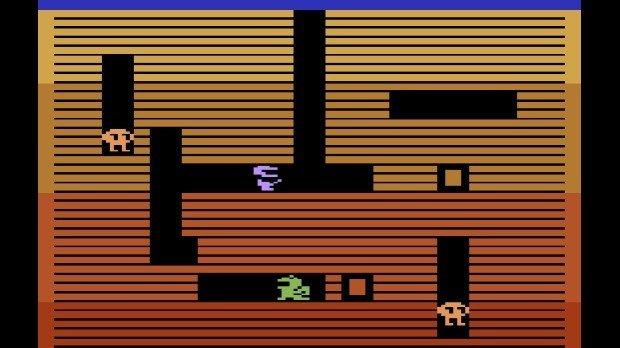 Jogo Dig Dug para o Atari