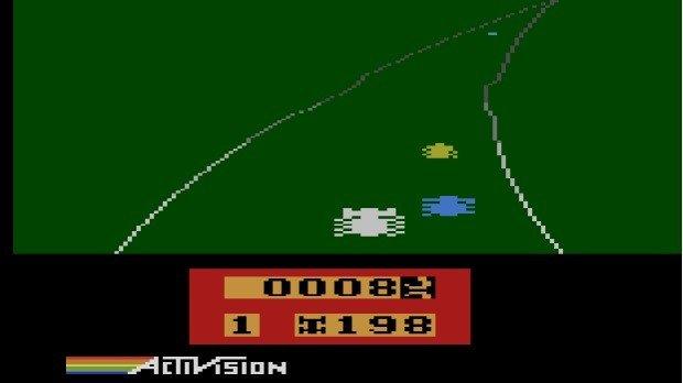 Jogo Enduro para o Atari 2600