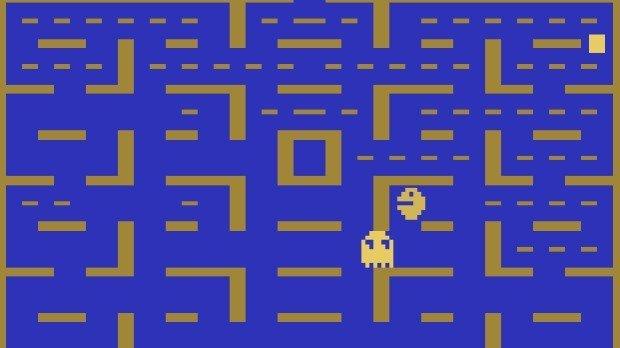 Jogo Pacman no Atari