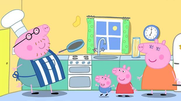 Jogo Peppa Daddy Pigs Pancake