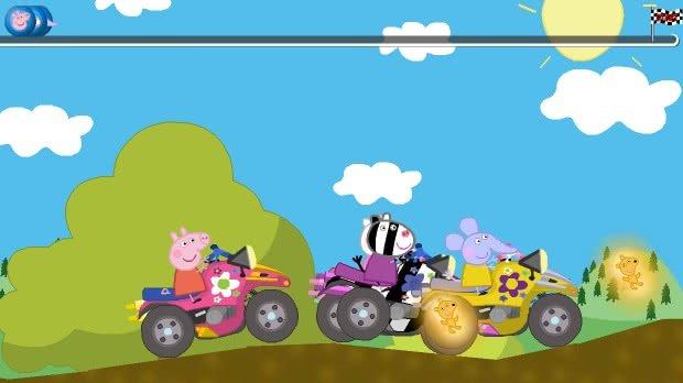 Jogo Peppa Pig Racing Battle