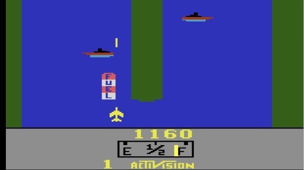 Jogo River Raid no Atari