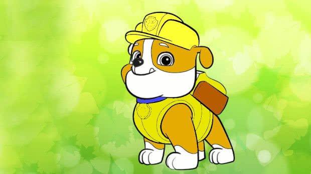 jogo Pinte Rubble de Patrulha Canina