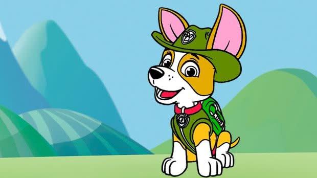 jogo Colorir Tracker de Patrulha Canina