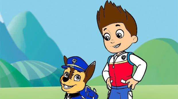 jogo Colorir Ryder e Chase de Patrulha Canina