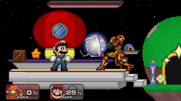 Samus e Mario SSF2