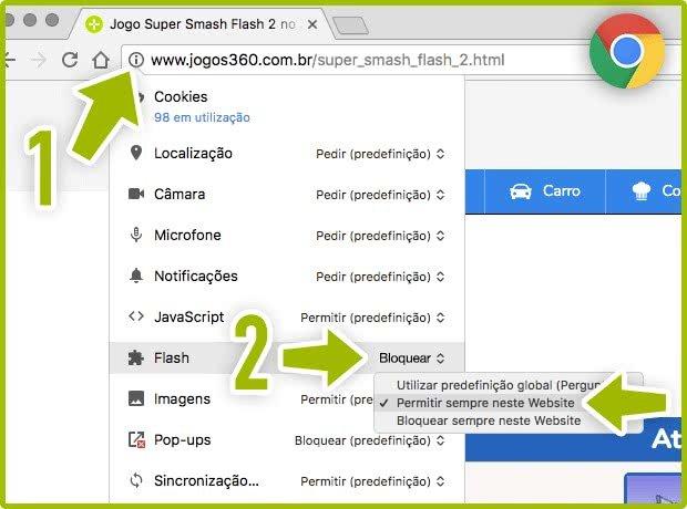 Ativar o Flash no Google Chrome