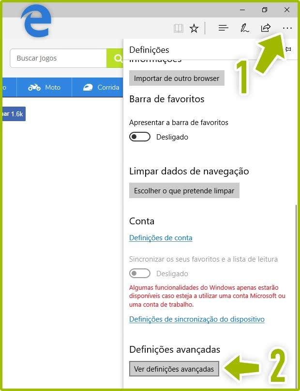 Ativar o Flash Player no Microsoft Edge