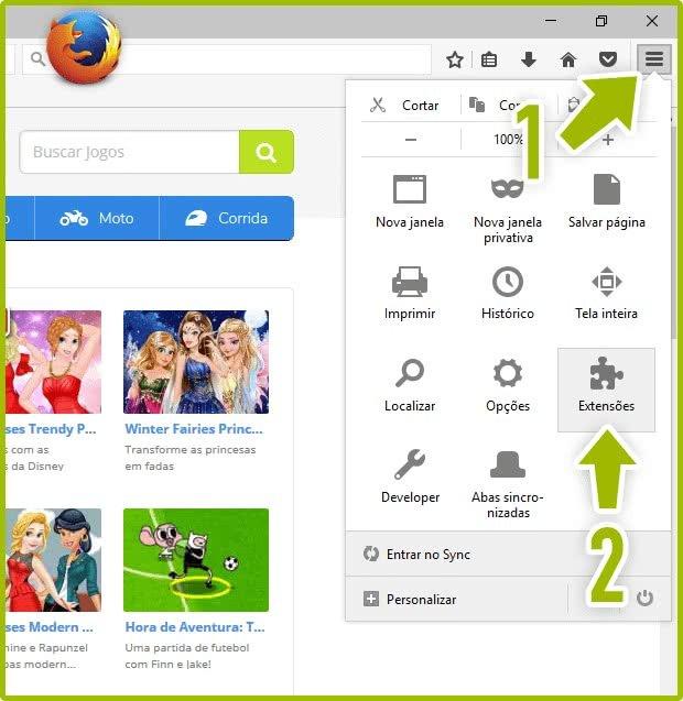 Ativar o Flash Player no Firefox Passo 1