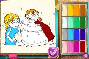 Jogo Frozen Coloring Book