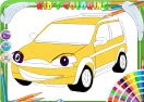 Funny Car Coloring
