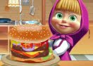 Masha & The Bear: Cooking Big Burger