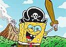 Pinte Bob Esponja o Pirata