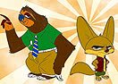 Pinte Finnick e Flash de Zootopia