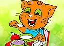 Pinte Ginger Almoçando