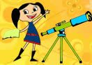Pinte Luna Com Seu Telescópio